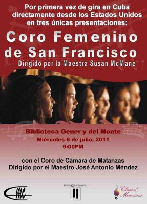 Concierto del coro de San San Francisco en Matanzas
